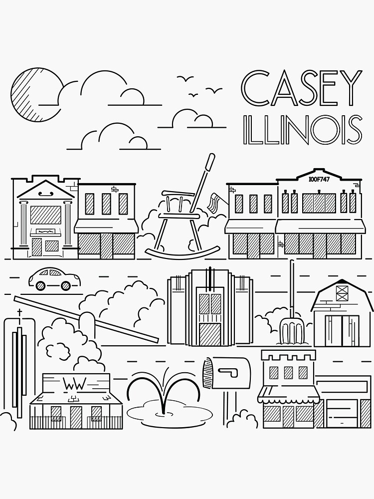 Town Line Art by CaseyIllinois