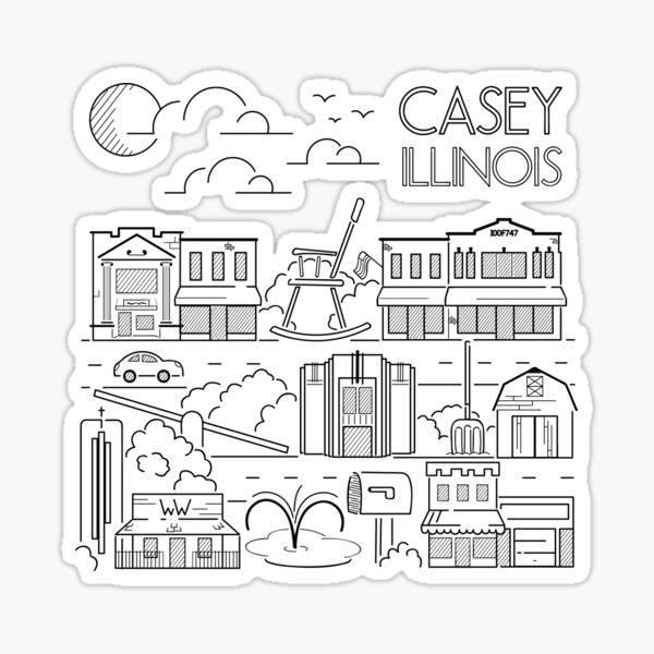 Town Line Art Sticker