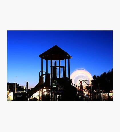 Playground at Night Photographic Print