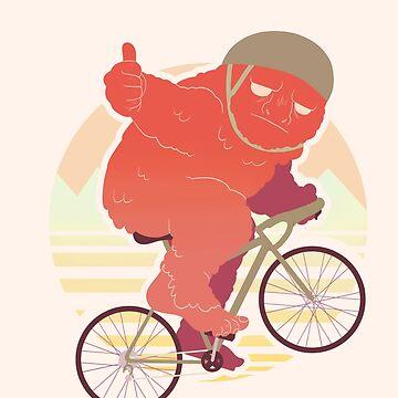 Biking Bigfoot by art-shy