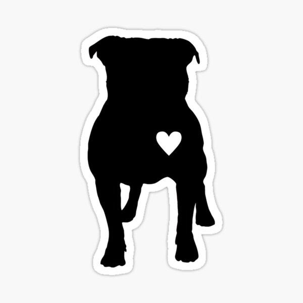 Pitbull Love Three  Sticker