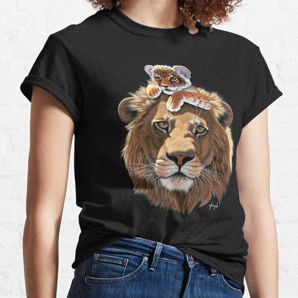 Father Lion and Lion Cub, male lion Classic T-Shirt