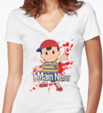 I Main Ness - Super Smash Bros. Women's Fitted V-Neck T-Shirt