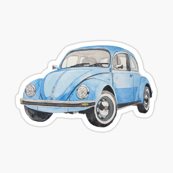 German Is Rusty Vinyl Decal Sticker Car Van VW Volkswagen Bug Beetle Vintage
