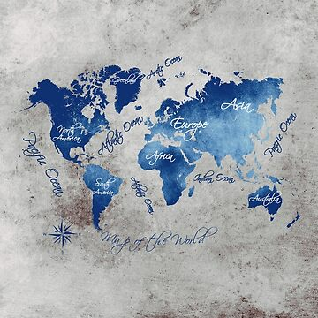 world map 145 grey blue #worldmap #map by JBJart