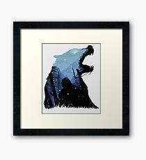 Jon Snow - King of The North Framed Print