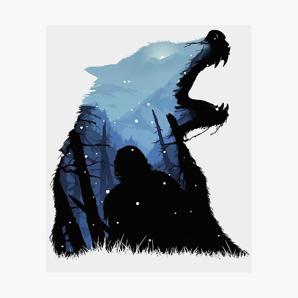 Jon Snow - Rey del Norte Lámina fotográfica