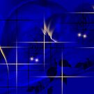 Midnight blue-Abstract Art + Design products by haya1812
