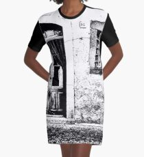 Vulture: door and window on pink wall Graphic T-Shirt Dress