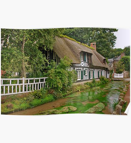 Cottage in Normandy Poster