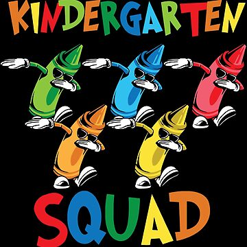 Kindergarten squad shirt crayon back to school by WWB2017