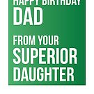 Happy Birthday Dad From Your Superior Daughter by theredteacup
