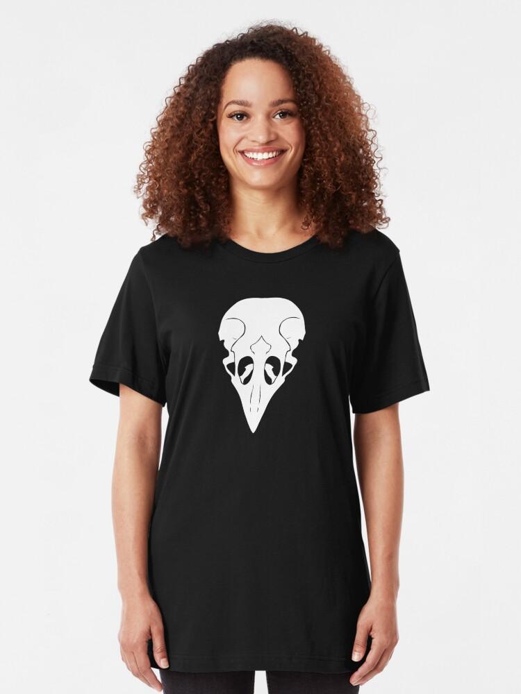 Alternate view of Crow Skull Slim Fit T-Shirt