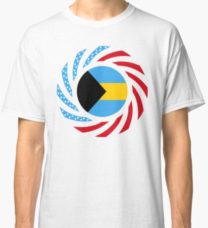 Bahamian American Multinational Patriot Flag Series Classic T-Shirt