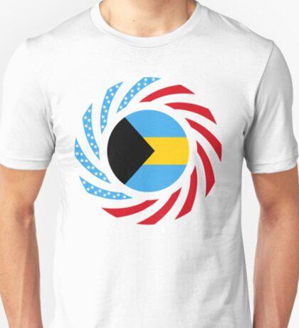 Bahamian American Multinational Patriot Flag Series T-Shirt