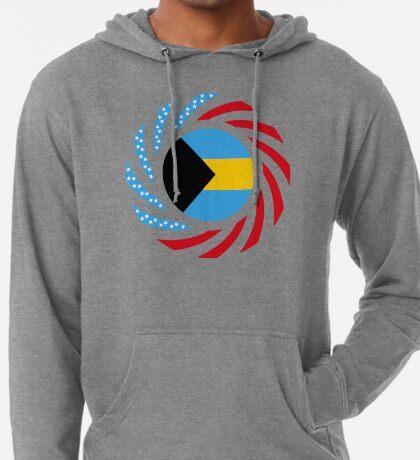 Bahamian American Multinational Patriot Flag Series Lightweight Hoodie