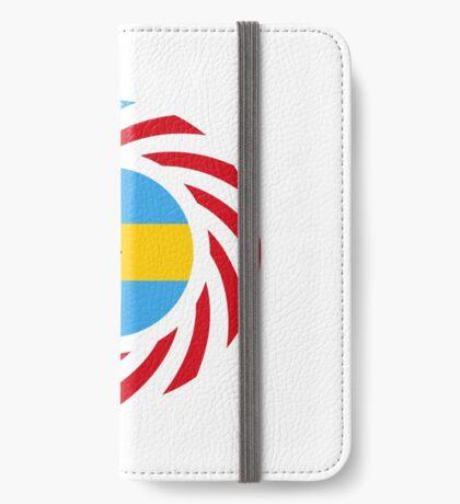 Bahamian American Multinational Patriot Flag Series iPhone Wallet