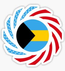 Bahamian American Multinational Patriot Flag Series Sticker