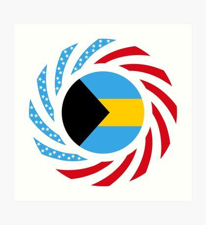 Bahamian American Multinational Patriot Flag Series Art Print