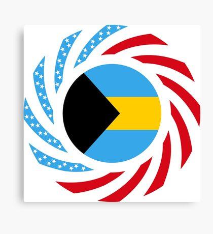 Bahamian American Multinational Patriot Flag Series Canvas Print