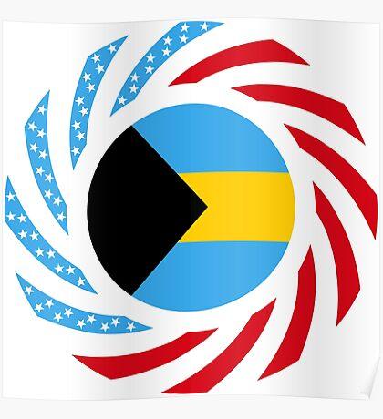 Bahamian American Multinational Patriot Flag Series Poster