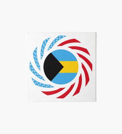 Bahamian American Multinational Patriot Flag Series Art Board Print