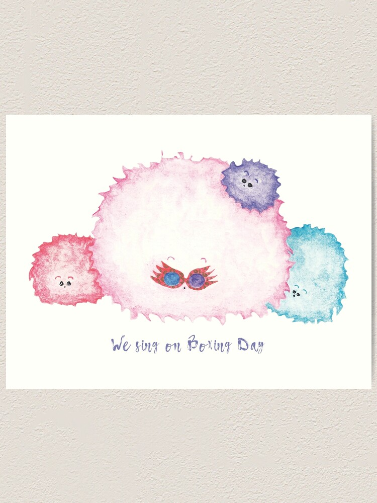 A Pygmy Puff With Luna Lovegood Soul Wearing Spectrespecs Art Print By Kimbas238 Redbubble