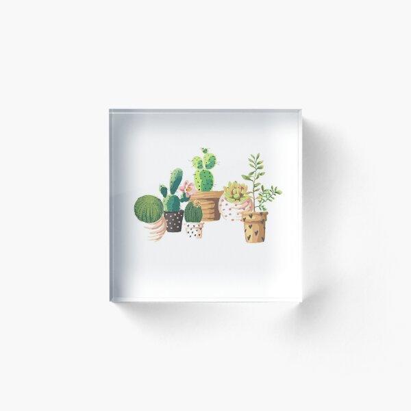 Cactus! Acrylic Block
