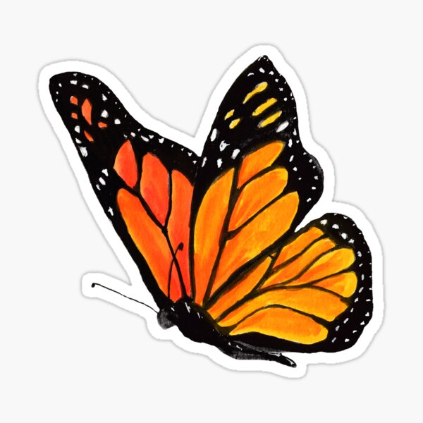 Monarch Landing Sticker