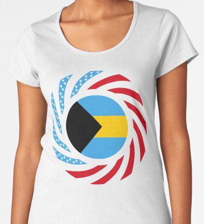 Bahamian American Multinational Patriot Flag Series Premium Scoop T-Shirt
