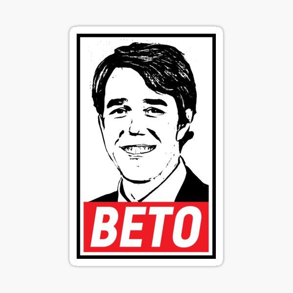 orourke Texas tx sentate Senator American Vinyl Black BETO Sticker