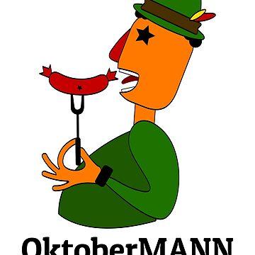 Bavarian Oktoberfest Man by maxarus