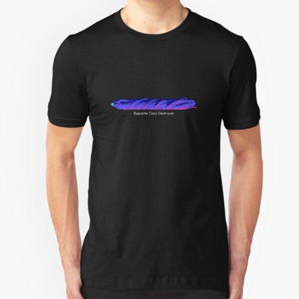 Baguette spaceship from Snail Trek Slim Fit T-Shirt