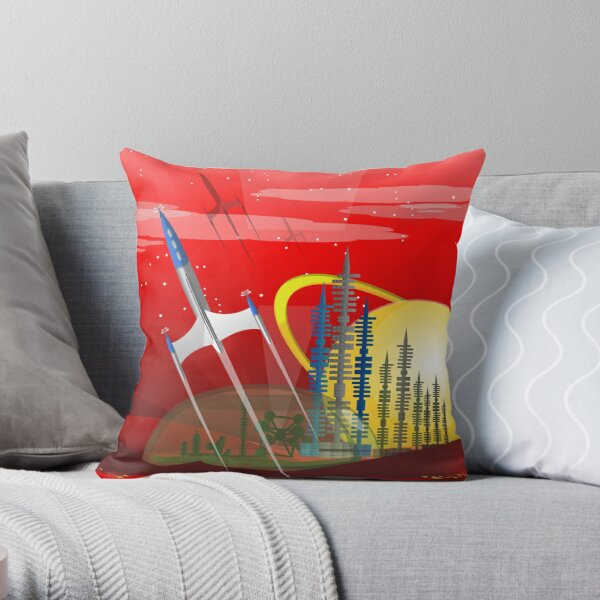 Mars Colony - Red Eye Throw Pillow