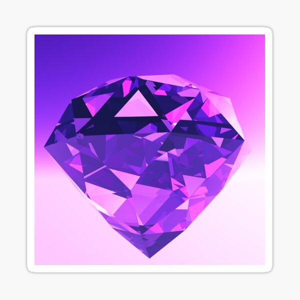 Diamond in Purple and Violet Light Sticker