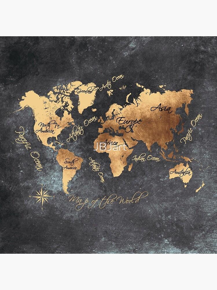 world map 147 gold black #worldmap #map by JBJart