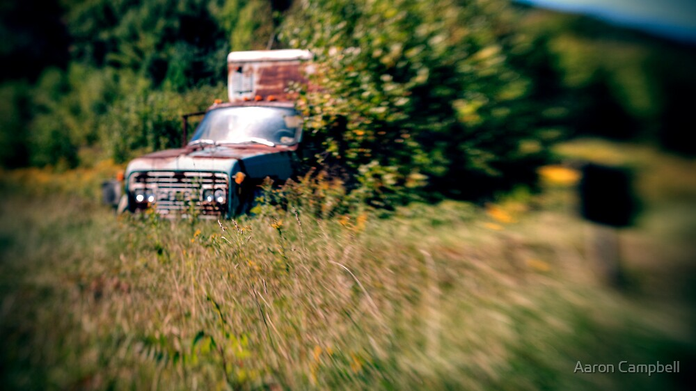 Rusted Teal Truck by Aaron Campbell