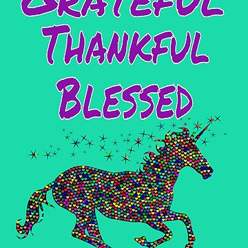 Grateful Thankful Blessed Happy Thanksgiving Day Cool Gift by Klimentina