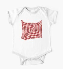 COME INSIDE (RED S/F) Body de manga corta para bebé
