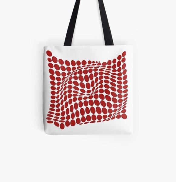 COME INSIDE (RED S/F) Bolsa estampada de tela