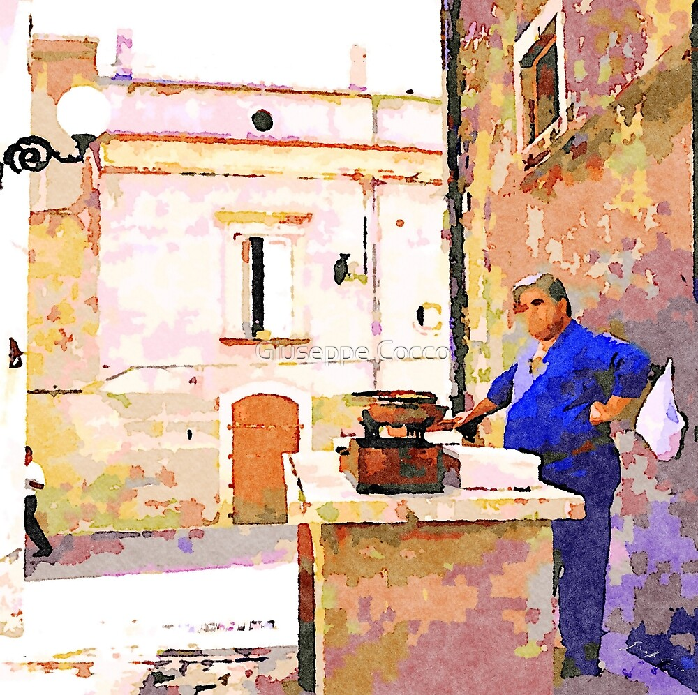 Vulture: fish vendor by Giuseppe Cocco