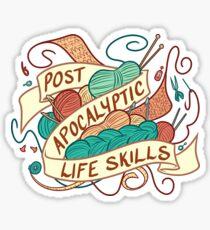 Post-Apocalyptic Life Skills Sticker
