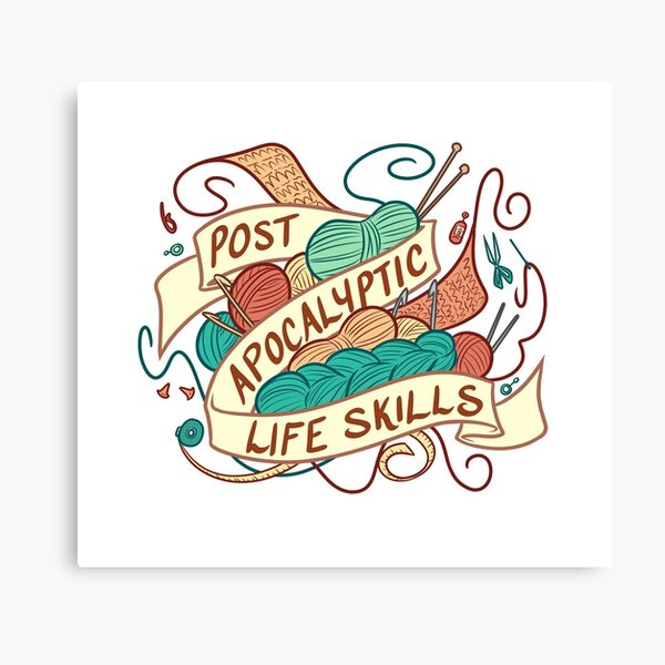 Post-Apocalyptic Life Skills Canvas Print