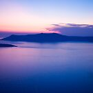 Santorini caldera at sunset by Monica Di Carlo