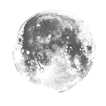 The Moon by Rafiwashere