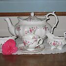 """""""Fragrance"""" Tea Set by Pat Yager"""