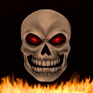 Evil Human Skull  by MidnightRain