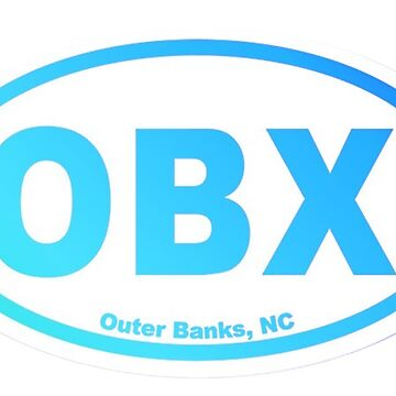 OBX OUTER BANKS NORTH CAROLINA BLUE GRADIENT STICKER BEACH DUCK KILL DEVIL HILLS KITTY HAWK COROLLA  by KOTTNKANDY