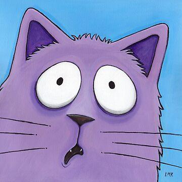 Scaredy Cat! - Funny Cat Art by LisaMarieArt