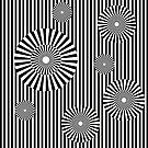 «MOVING CIRCLES (BLACK)» de geometricarte